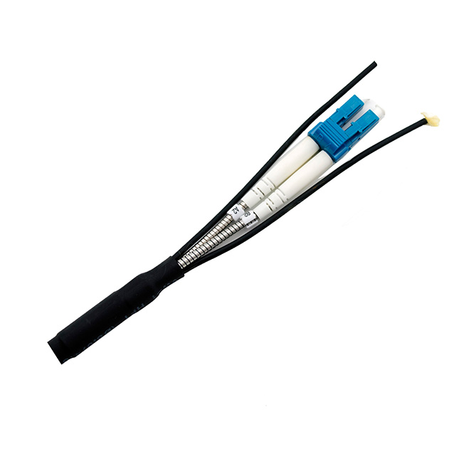 Outdoor CPRI armored branch fiber optic cable CPRI duplex patch cords with LC for telecom