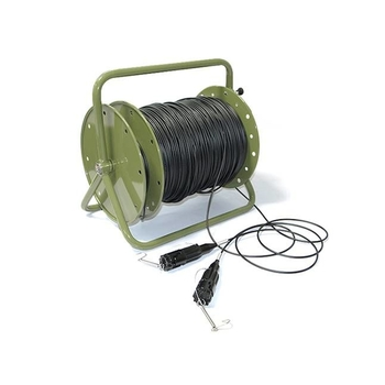 Waterproof Extension Military Tactical patch cable retractable fiber cable reel