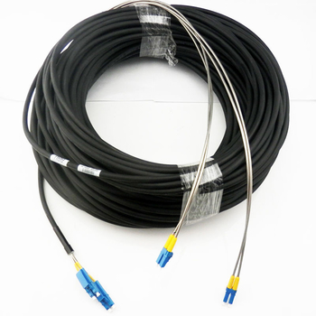 Armoured LC Duplex SM Multimode 50/125 Fiber Optic Patch Cord For BBU RRU FTTH FTTA